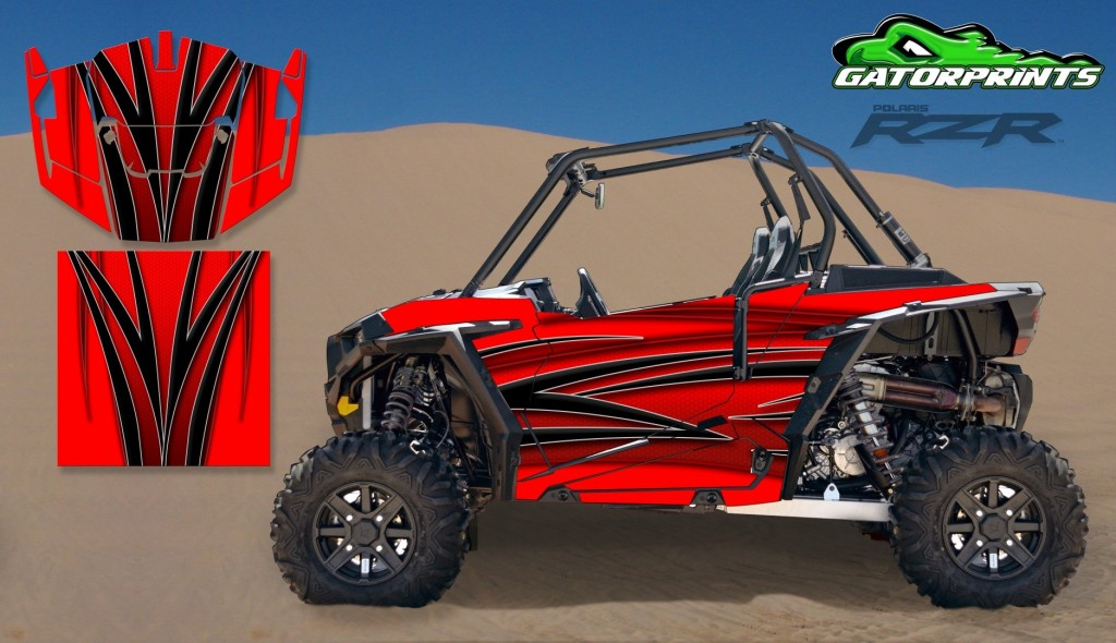 Red 2014 RZR XP2 1000 Custom Decal Kits – 2 Seater