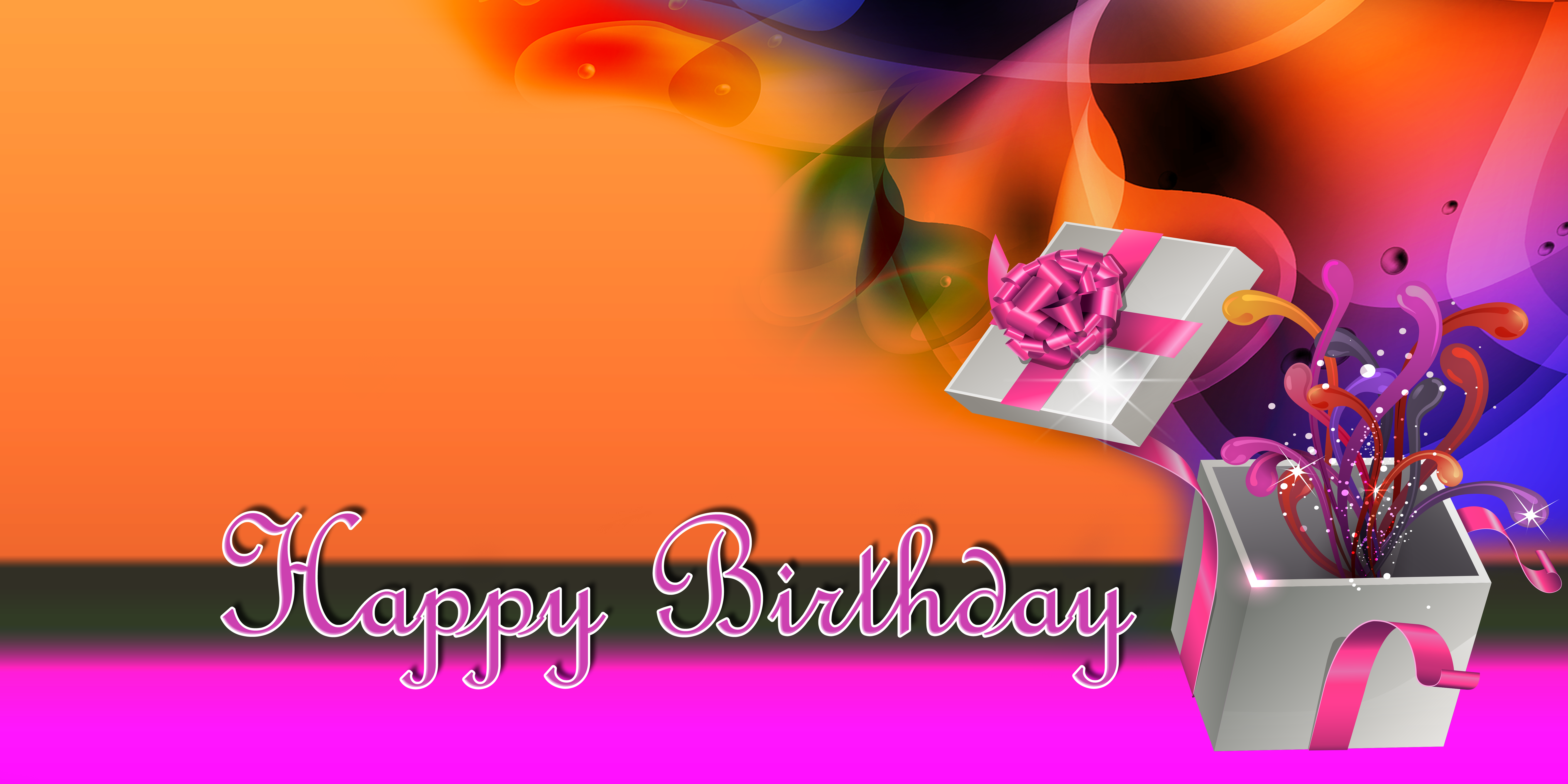 Happy Birthday Banner Pink Gift Gatorprints