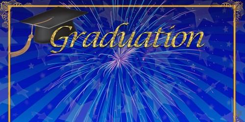 Blue Graduation Banner