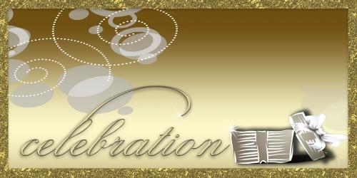 Celebration Banner - Gift Gold