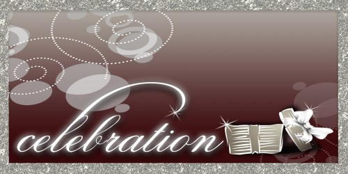 Celebration Banner - Gift Maroon