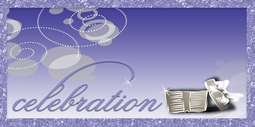 Celebration Banner - Gift Purple