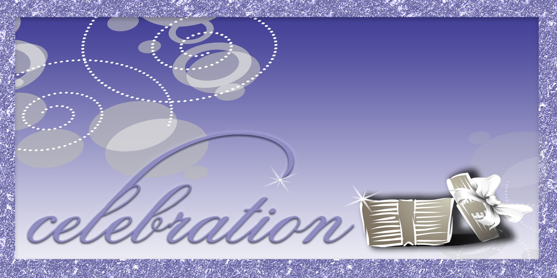 Celebration Banners Gift Purple