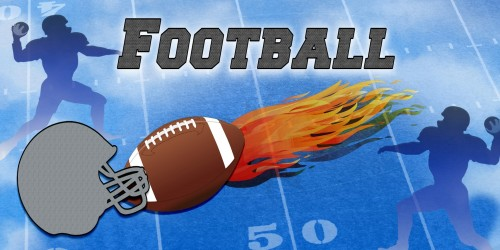 Football Fire - Sports Banner
