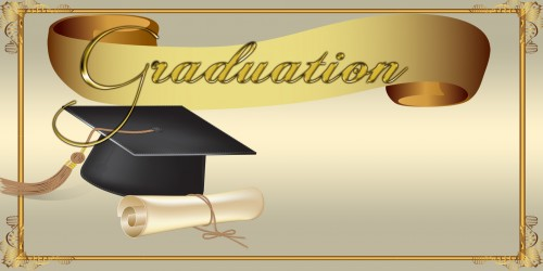 Graduation Banner - Cap Diploma