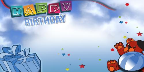 Happy Birthday Banner – Blue Bear