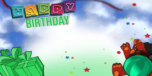 Happy Birthday Banner – Green Bear