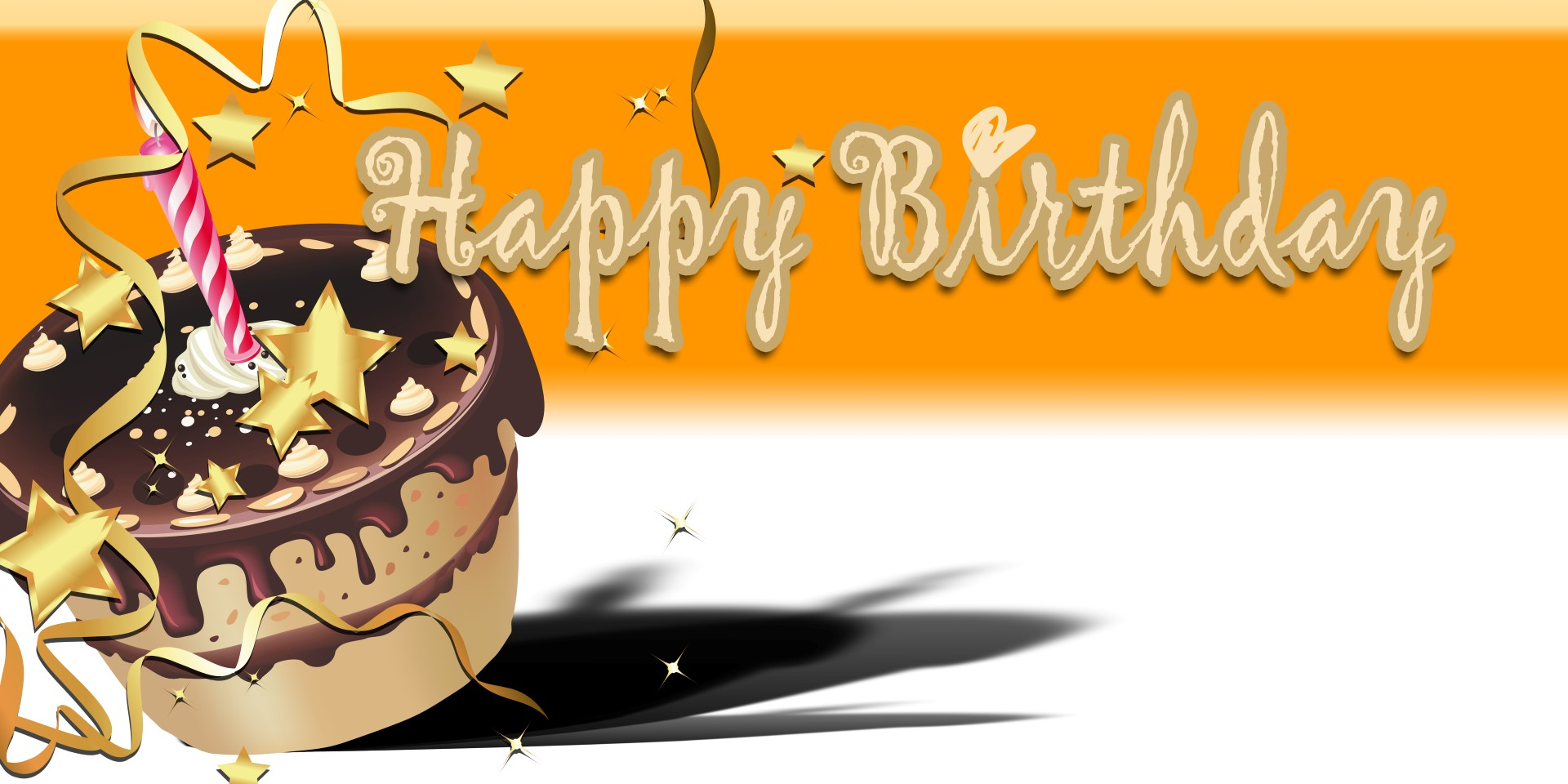 Happy Birthday Banner Orange Cake Vinyl Banners