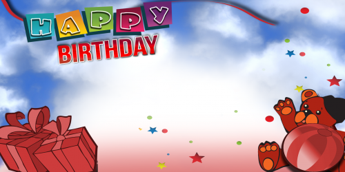 Happy Birthday Banner – Red Bear