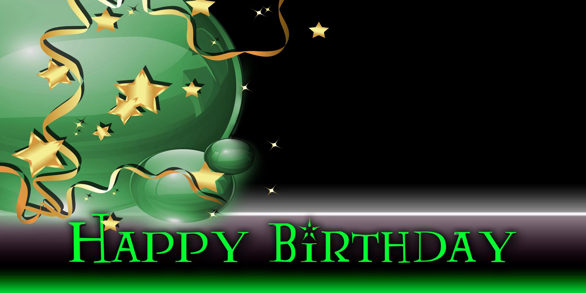 Happy Birthday Banner - Star Balloon Green - Vinyl Banners ...