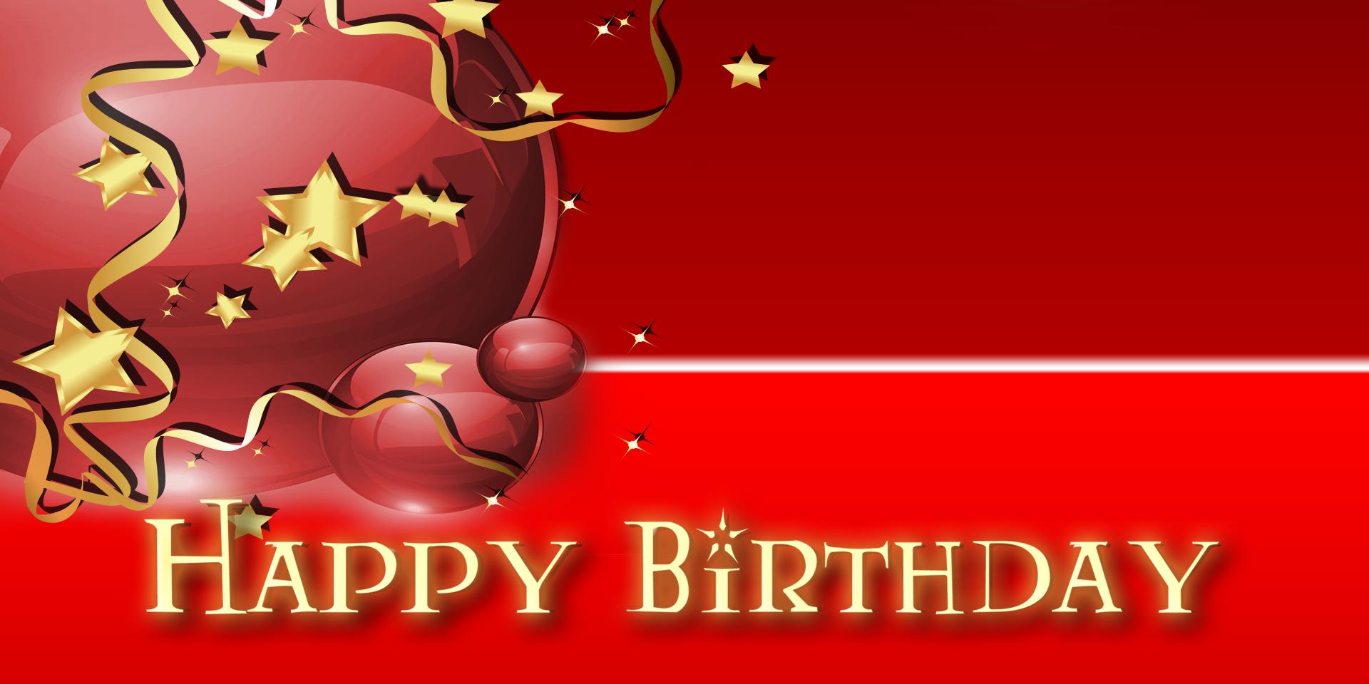 Happy Birthday Banner Star Balloon Red Vinyl Banners