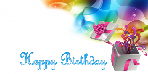 Happy Birthday Banner – White Gift