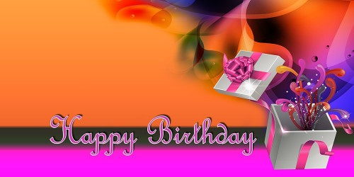 Happy Birthday Banner Pink Gift