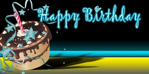 Happy Birthday Banner – Black Cake