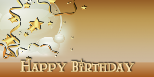 Happy Birthday Banner – Star Balloon Gold