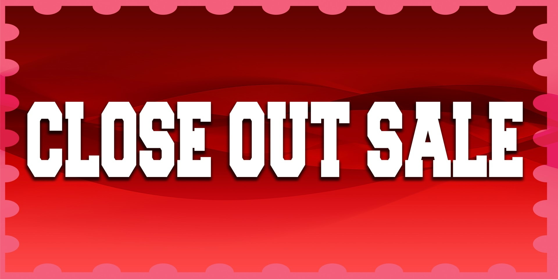 Image Banners Close Out Sale Red