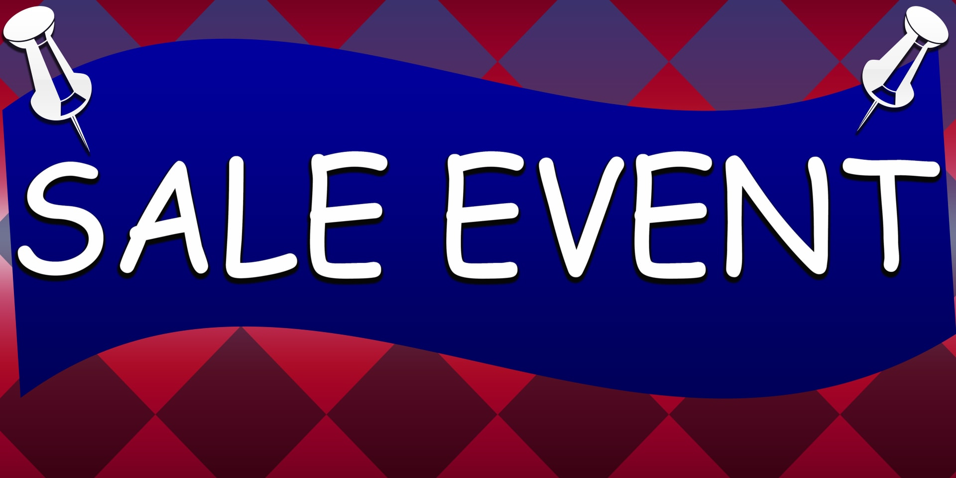 Image Banners Sale Event Pins