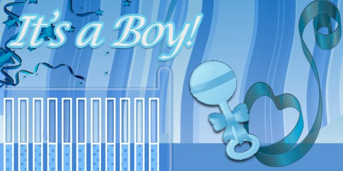 It's a Boy Crib Banner