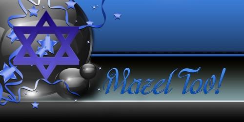 Mazel Tov Banner - Star Blue