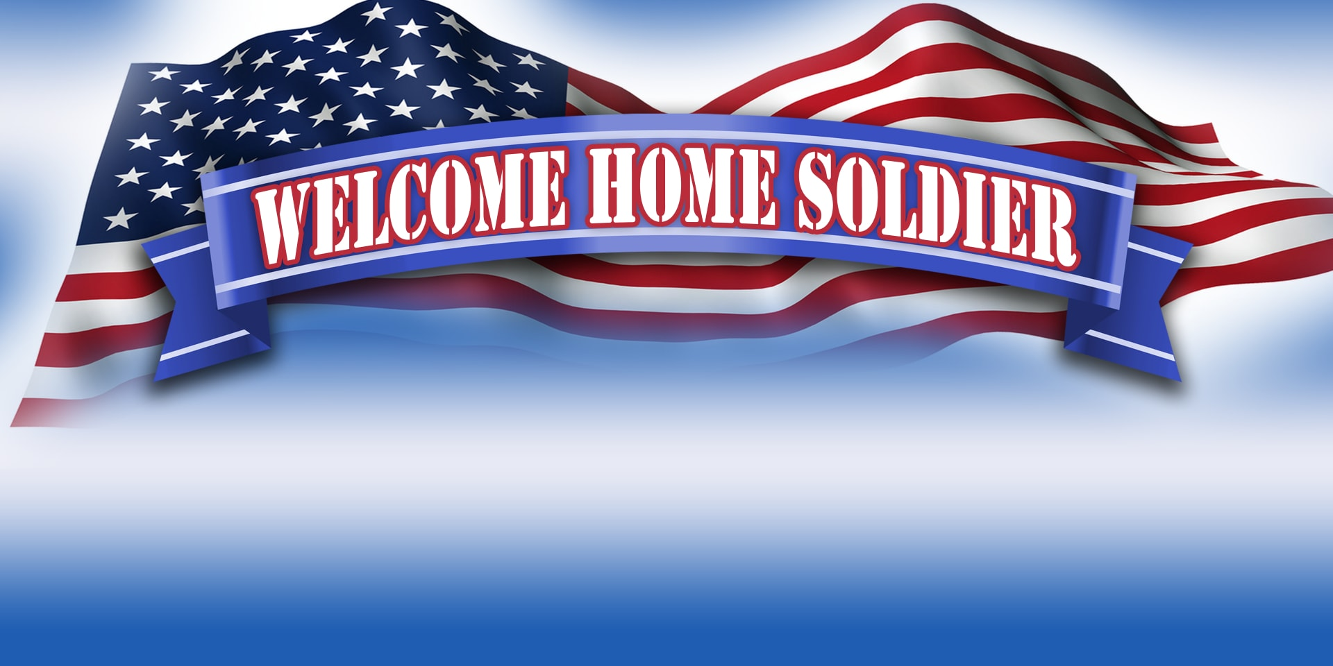 military banner welcome home soldier banner