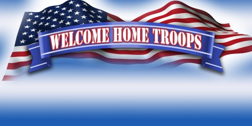 Military Banner - Welcome Home Troops Banner