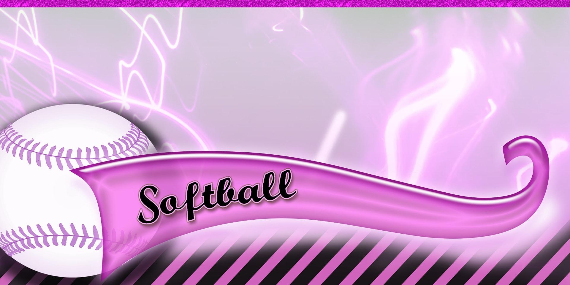Sports Banners Softball Pink
