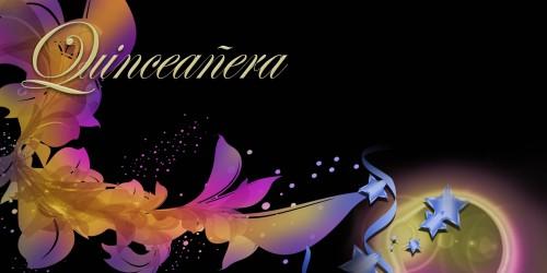 Quinceanera Banner - Flowers Orange