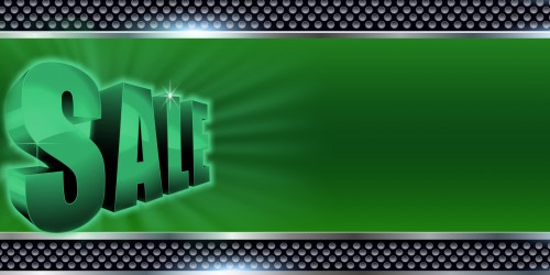 Business Banner Sale 3D Green Banner