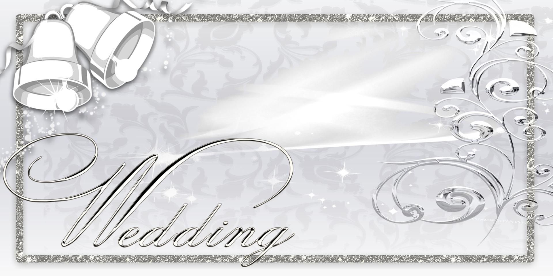 Wedding Banners Bells Silver