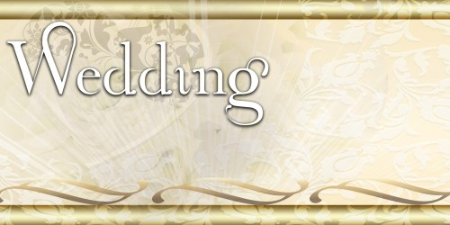 Wedding Banner - Scrolls Lace Gold