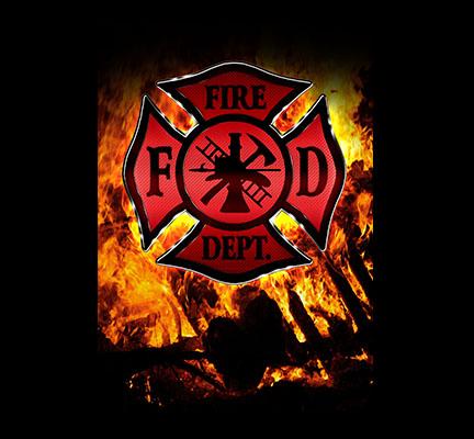 Gun Safe Decals Large Fire Department Logo Flames