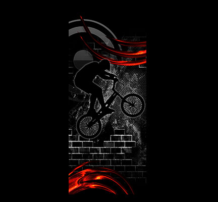 Door Decals Bmx Black