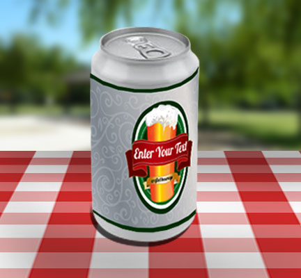 Aluminum Can Decal Beer Can