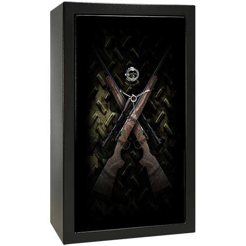 Guns and Camo Small Gun Safe Decal