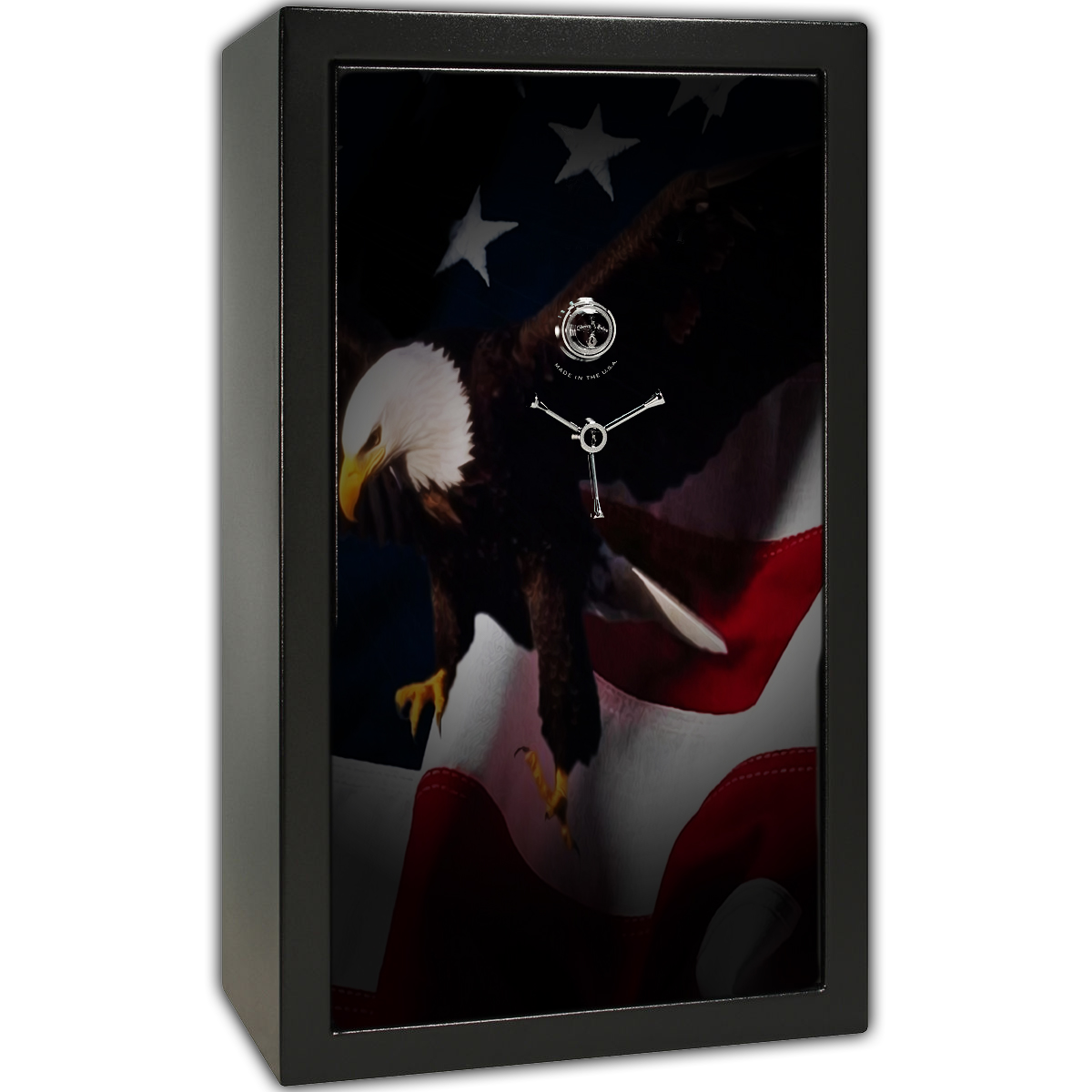 Gun Safe Decal - Large American Flag Eagle