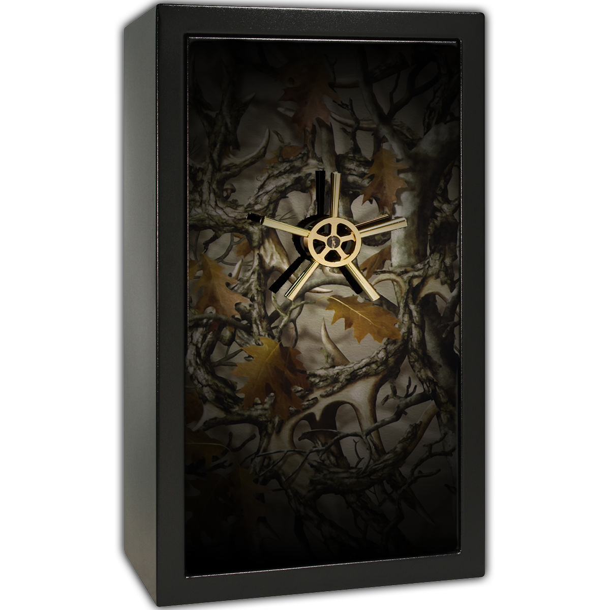 Gun Safe Decal - Large Camouflage Antlers