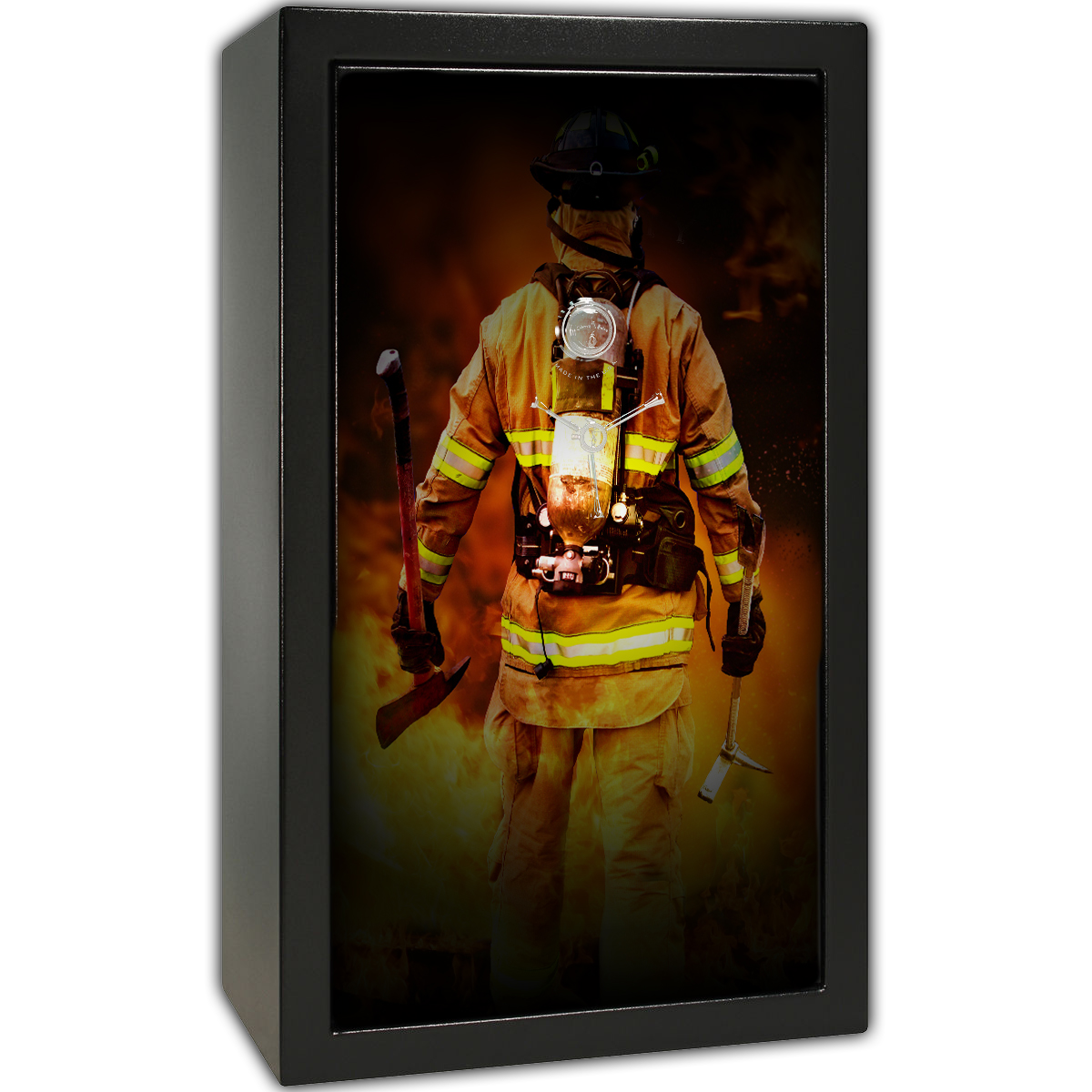Gun Safe Decal - Large Firefighter Back