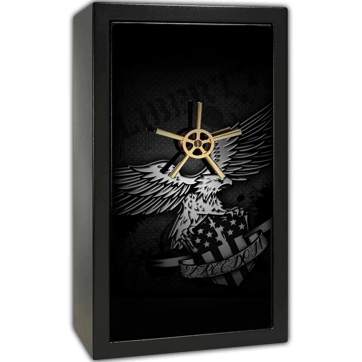 Gun Safe Decal - Large Freedom Liberty Eagle