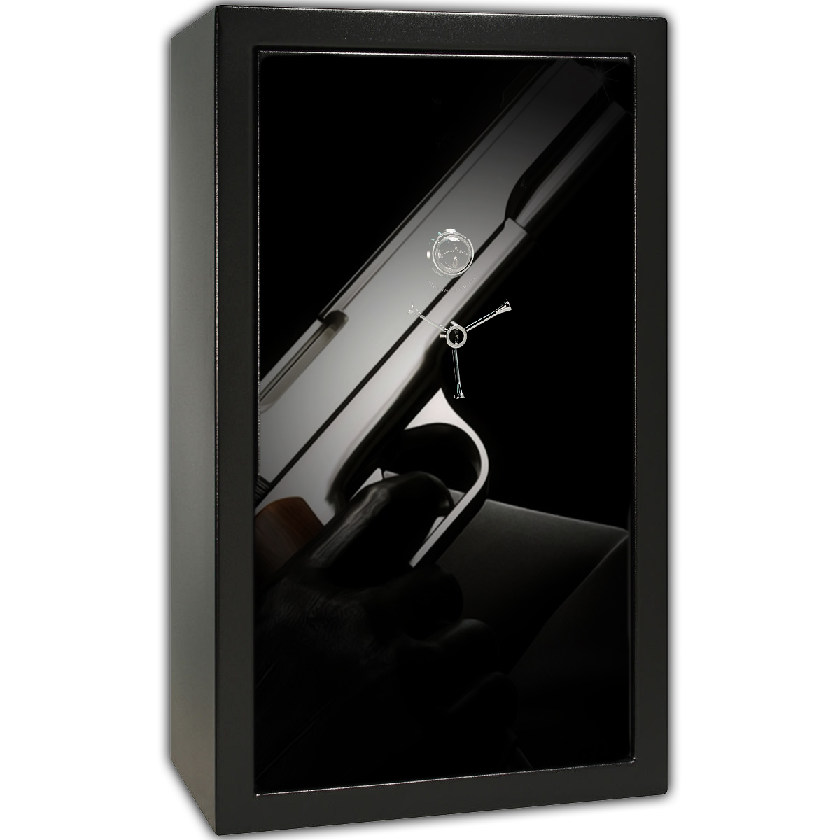 Gun Safe Decal - Large Gun Leather Glove