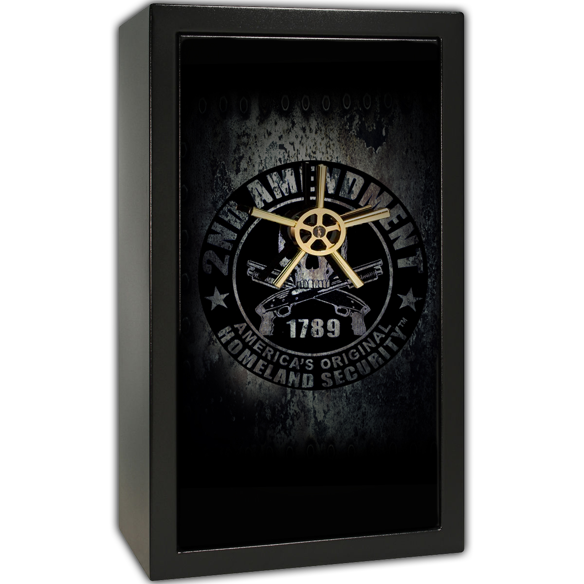 Gun Safe Decal - Large Skull Bear Arms
