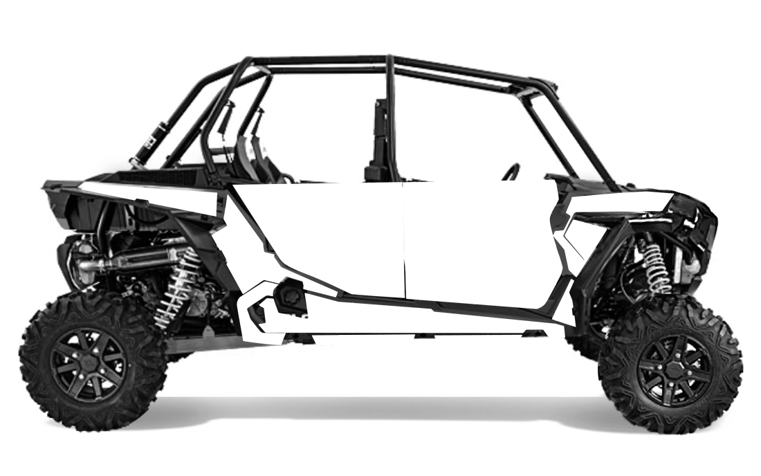 2014 rzr xp4 1000 decal kit- 4 seater