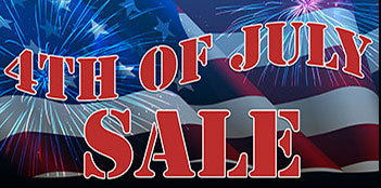 4th of july sale banners