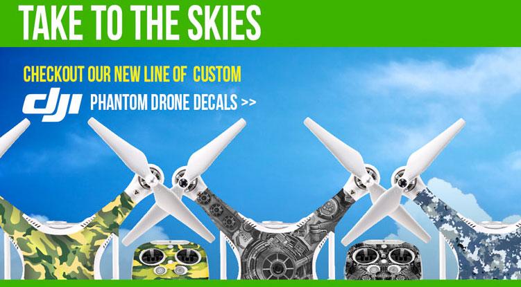 Drone decals dji phantom 3 custom decals