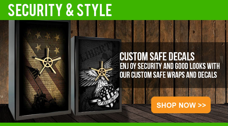 Safe decals custom gun safe decals and safe stickers