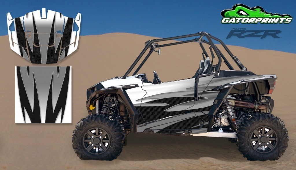 Grey 2014 RZR XP2 1000 Custom Decal Kits – 2 Seater