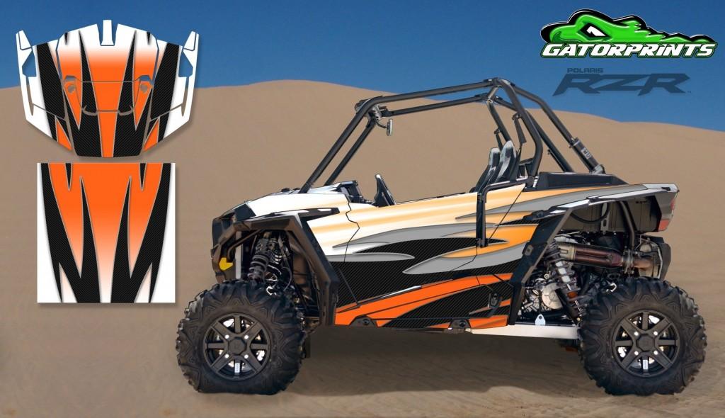 Orange 2014 RZR XP2 1000 Custom Decal Kits – 2 Seater