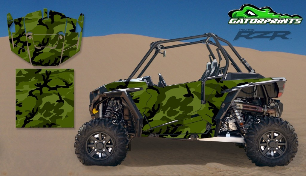 Camouflage 2014 RZR XP2 1000 Custom Decal Kits – 2 Seater