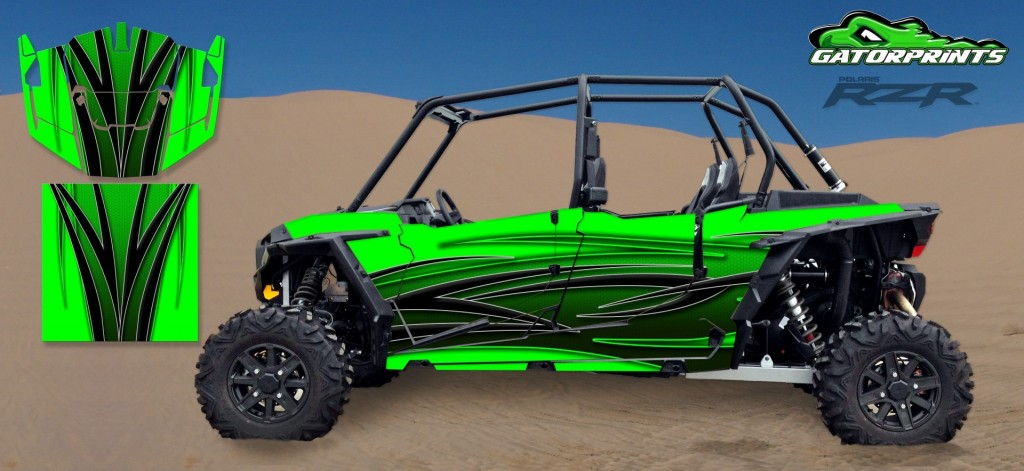 Rzr 1000 Custom Decal Kits Polaris Graphics