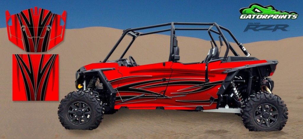 Red 2014 RZR XP2 1000 Custom Decal Kits – 4 Seater