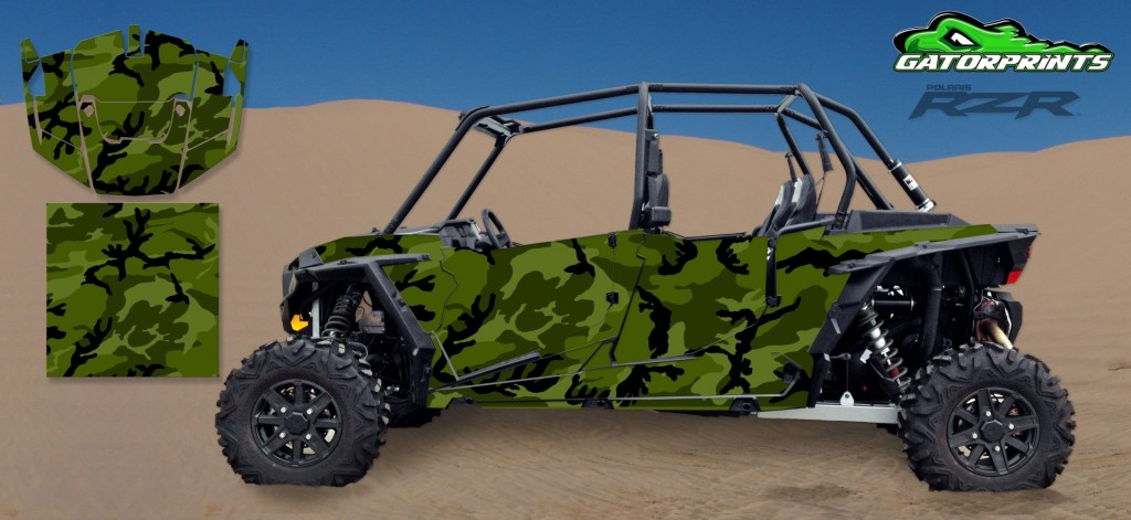 Camouflage 2014 RZR XP2 1000 Custom Decal Kits – 4 Seater